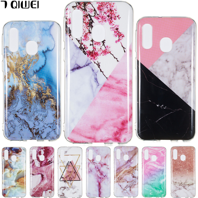 For Samsung Galaxy A40 Case 2019 Silicone Soft Granite Marble TPU Cover For Samsung Galaxy A40 Case A 40 A405 A405F Coque Para