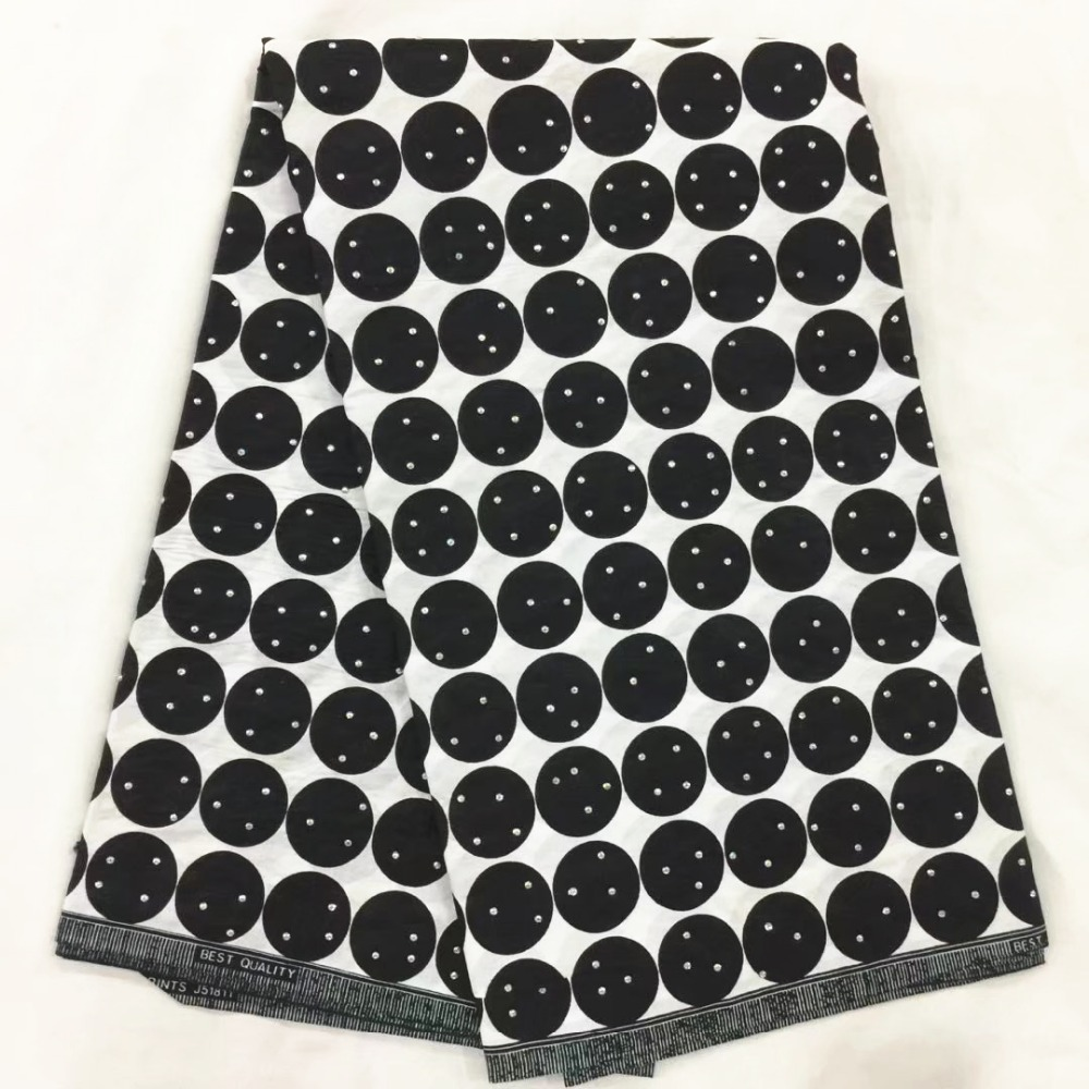 african fabric black and white ankara african wax print fabric with stones african print fabric for