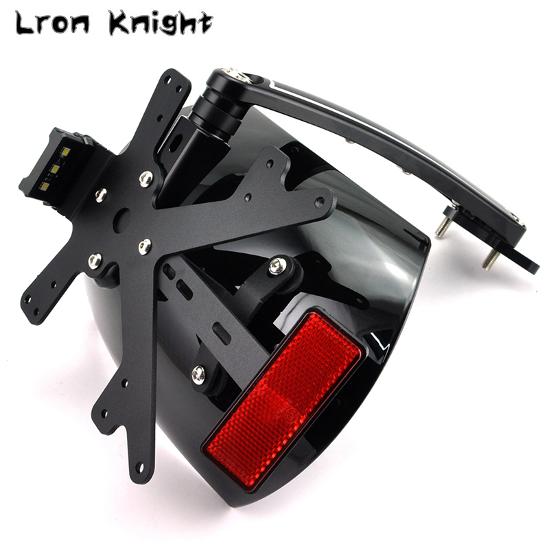 For BMW R NINE T R nineT Rnine T RNINET R9T 2014 2015 2016 Motorcycle Rear Fender Bracket mudguard with LED License plate Light свитер женский r t w rtwm23817e rtw 2014 rtwm23817