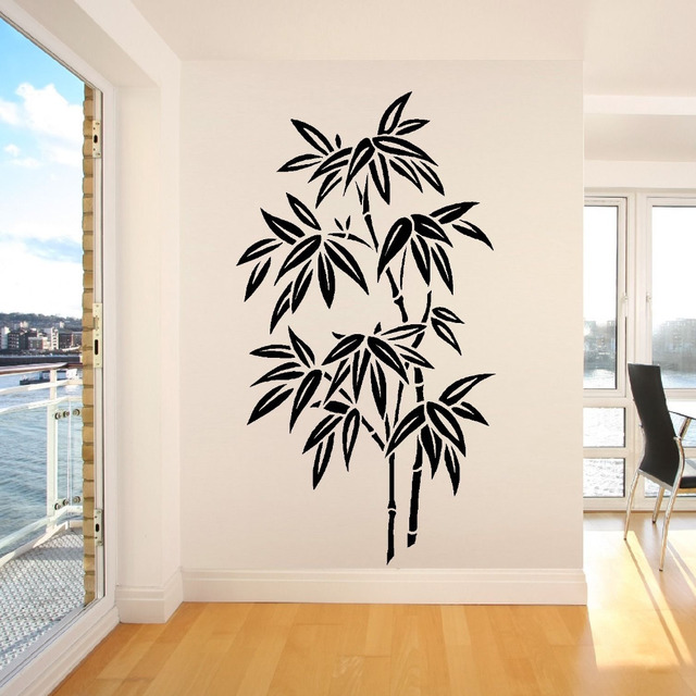 chinese bamboo nontoxic pvc material stickers wall decor mural