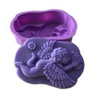 Angel Baby Girl Silicone Mold Soap Candle Molds Cake Decoration Kitchen Bakeware Chocolate Fudge Molding Production