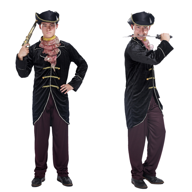 Halloween Cosplay costume Deluxe pirate costume masquerade adult male Pirates of the Caribbean Captain Jack Sparrow costumes