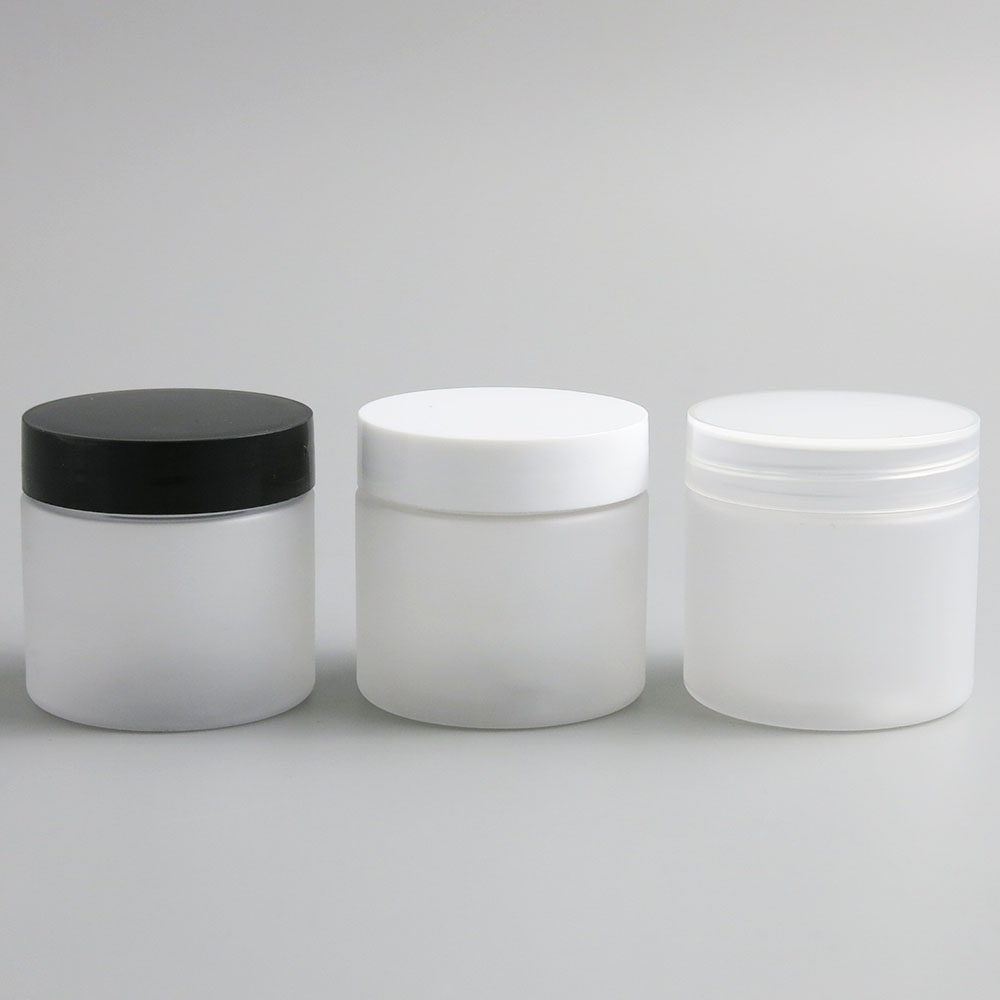24 X 60g Empty Frost Cosmetic Cream Containers Cream Jars 60cc 60ml 2oz For Cosmetics Packaging Plastic Bottles With Plastic Cap
