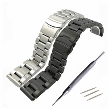 High Quality 22 24 26 mm Solid Stainless Steel Watchband Bracelet Watches Bnad Strap Accessories + Tool стоимость
