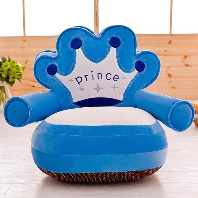 Apenas Cobrir Nenhum Enchimento Do Bebê Cadeira de Criança Sopro Crianças Assento Assento Do Sofá Ninho Lavável Crianças do Saco de Feijão Urso Dos Desenhos Animados Da Pele upscale crianças