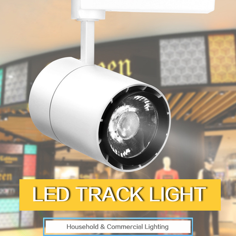 Free Shipping 220V High Quality 15W 20W 30W LED Track lamp Commercial COB Track Light for 2 Wire Connector