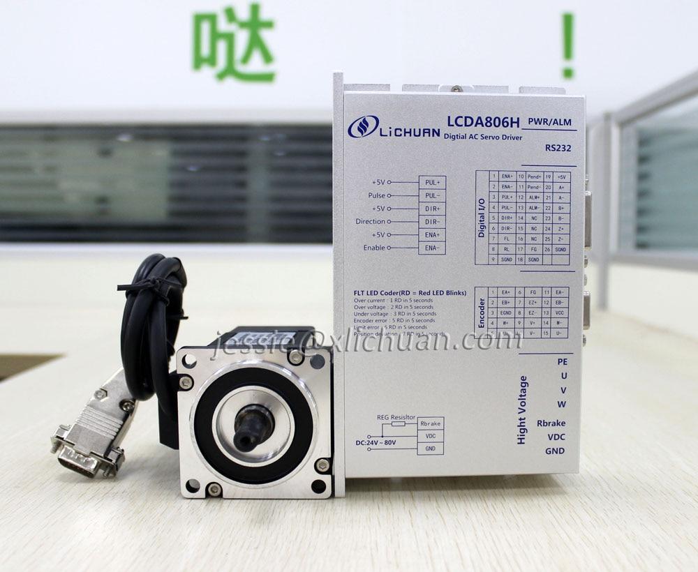 NEW Lichuan 200w dc servo motor 36v 0 637N M holding torque and ac servo driver