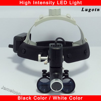 2.5 magnification surgery dental loupes with led light surgeon operation medical headlight clinical surgical magnifier