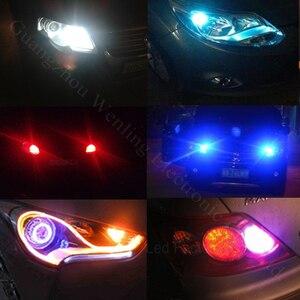 Image 5 - Wljh 1x canbus cob t10 led noエラーw5w ledオートパーキングライトインテリアライセンスプレートsidemarker電球ホワイトブルーled車ライト