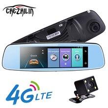 "Chezhilin 4G Coche DVR 7.84 ""ADAS táctil Remoto Monitor de visión Trasera espejo con DVR y cámara Android de Doble lente 1080 P WIFI dashcam"