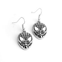 цена Cartoon SpiderMan Charm Guitar Pick Stud Earrings Fashion For Women Stud Earrings Spider-man Dangle Personalized Earrings Gothic в интернет-магазинах