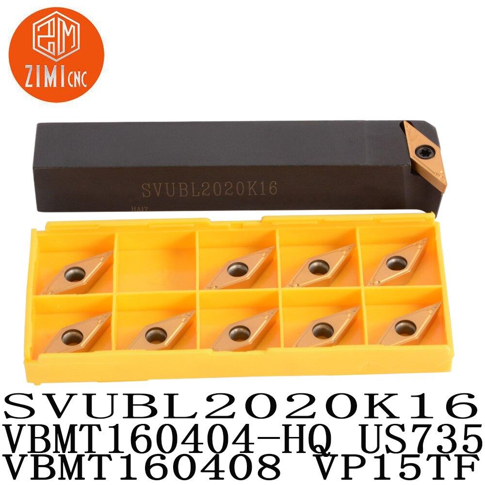 SVUBL2020K16 VBMT160404-HQ US735 VBMT160408 VP15TF High Quality External CNC Lathe Turning Tool Holder Carbide Turning Inserts
