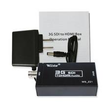 Бесплатная доставка и оптовая продажа мини HD 3g SDI в HDMI конвертер адаптер Поддержка HD-SDI/3g-SDI сигналы, показывающие на HDMI