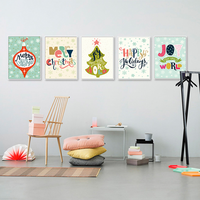 modern minimalism cartoon animal deer and new year quotes poster wall picture canvas painting nordic kids
