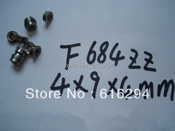 100PCS F684ZZ flange ball bearings  (4 * 9 * 4mm )P6  F684ZZ bearing---- free shipping