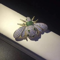 fine jewelry 925 sterling silver bee pendant brooch double use free shipping