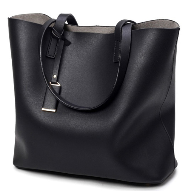 789bbfcd253 Luxury Handbags Women Bags Designer High Quality Leather Women Bag Black  Big Solid Women Shoulder Bags Large Capacity Tote Bag