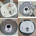 Animais dos desenhos animados Urso Coelho Acolchoado Tapetes de Jogo Cobertor Do Bebê Tapete Crianças Tapete Decoração do Quarto Da Cama Estilo Nórdico Decoração do Quarto Dos Miúdos
