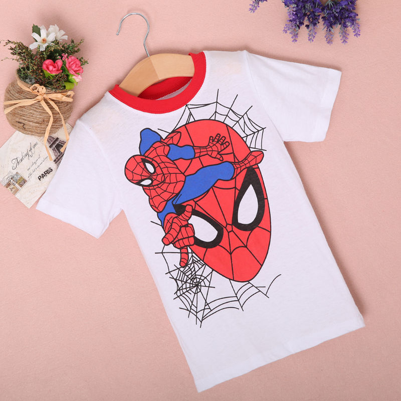 New-2016-Boy-Superman-T-Shirt-clothes-O-neck-short-sleeve-t-shirts-for-couples-Cotton-tees-3