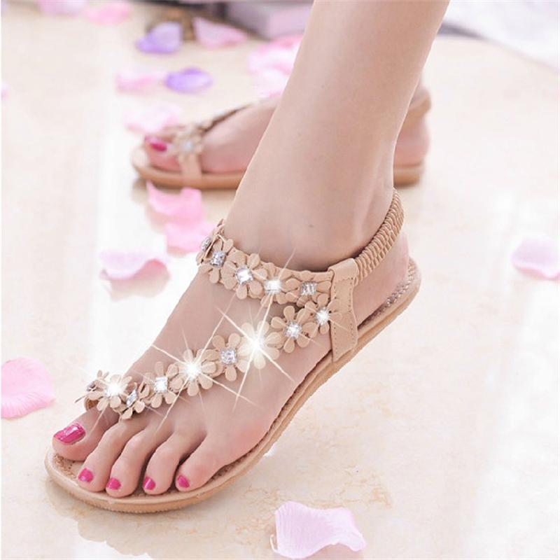 Women Sandals 2017 Summer Shoes Woman Flips Flops Wedges Bohemia Fashion Crystal Comfortable Female Slides Ladies Casual Shoes women sandals 2017 summer shoes woman wedges fashion gladiator platform female slides ladies casual shoes flat comfortable