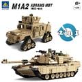 Kazi militar m1a2 tanque colección serie trans juguetes 1:28 escala abrams mbt y 1:28 hummer modelo de bloques de construcción