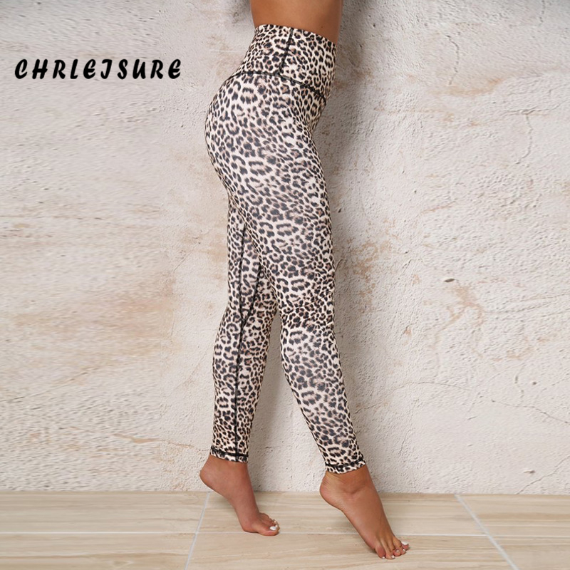 CHRLEISURE   Leggings   for Women Summer Sexy Leopard Print Polyester   Leggings   hips High waist Thin Breathable large Size Girl