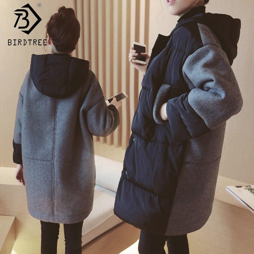 2018 зимние модные женские туфли шляпа о шеей длинный рукав длинная парка корейский стиль для беременных Momi толстые пальто Лидер продаж C89105Q