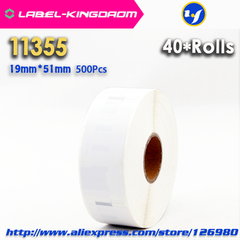 40 Rolls Dymo Compatible 11355 Label 19mm*51mm 500Pcs/Roll Compatible for LabelWriter400 450 450Turbo Printer Seiko SLP 440 450