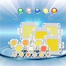 Высокомощный светодиодный чип 1 Вт, 3 Вт, 5 Вт, 10 Вт, 20 Вт, 30 Вт, 50 Вт, 100 Вт, COB светодиодный чип, натуральный белый, 4000 к-4500 к для DIY, светодиодный прожектор