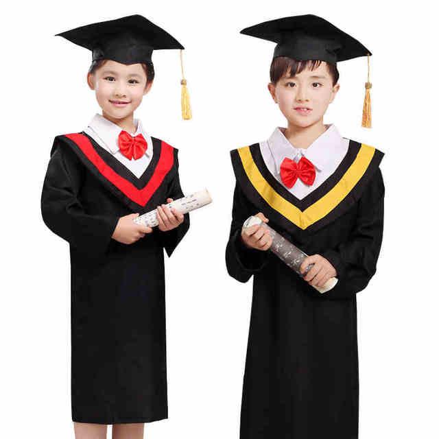 10sets)Dr Children clothing Graduation gown Dr Kindergarten suit A ...