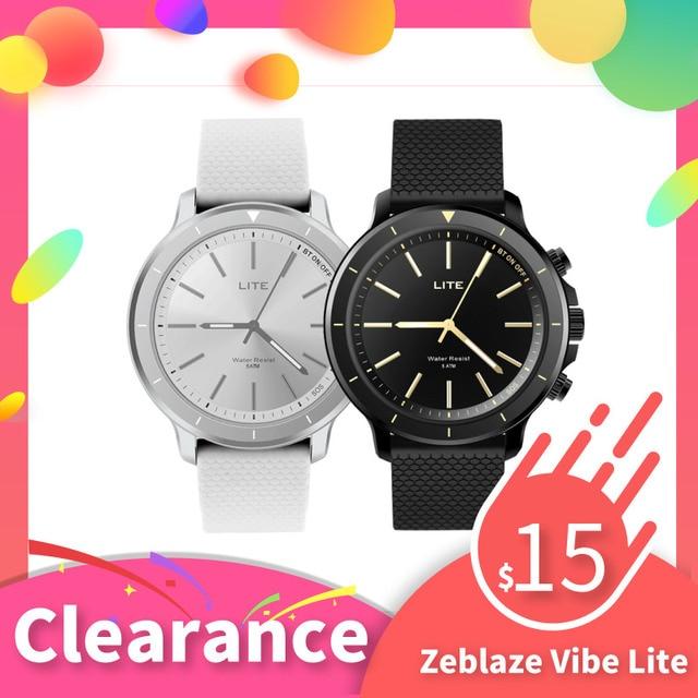 Zeblaze VIBE LITE Smart Quartz Watch 5ATM Waterproof bluetooth Heart Rate Fitness Tracker SOS Smartwatch Wristwatch VS Watch 9 X
