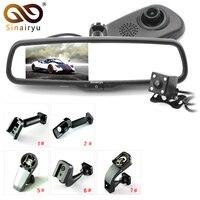 Sinairyu оригинальный кронштейн Полный 1080 P автомобиля камера DVR двойной объектив зеркало заднего вида видео регистраторы FHD 1080 DVR для автомобил