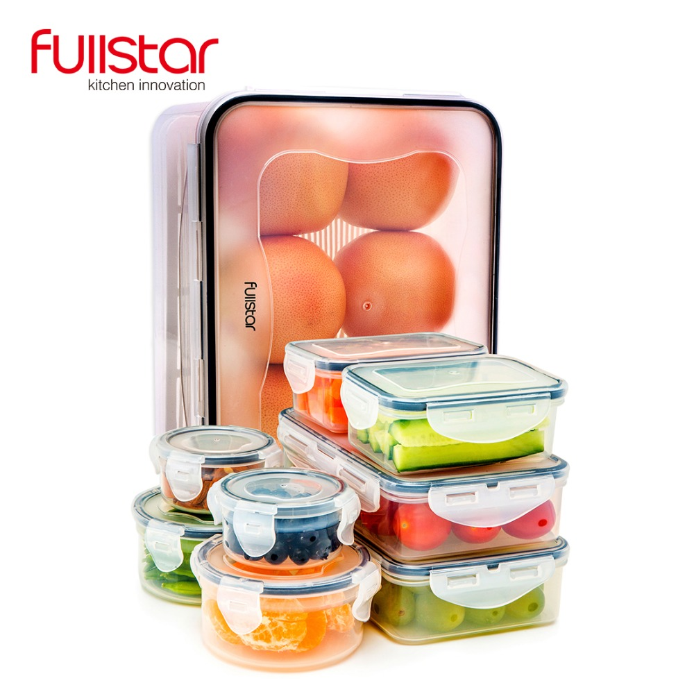 Kids Kitchen Accessories >> Us 19 99 30 Off Fullstar Plastic Lunch Box For Kids Kitchen Accessories Container For Food Microwave 9 Pcs Cute Bento Box Vegetable Kitchen Tool In