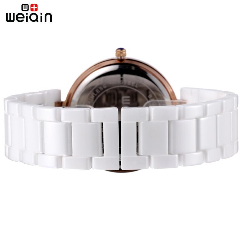 WEIQIN מותג באיכות גבוהה מלא קרמיקה נשים שעונים Relojes Mujer אלגנטי 2018 אופנה נשים שעון 3ATM עמיד למים Montre Femme