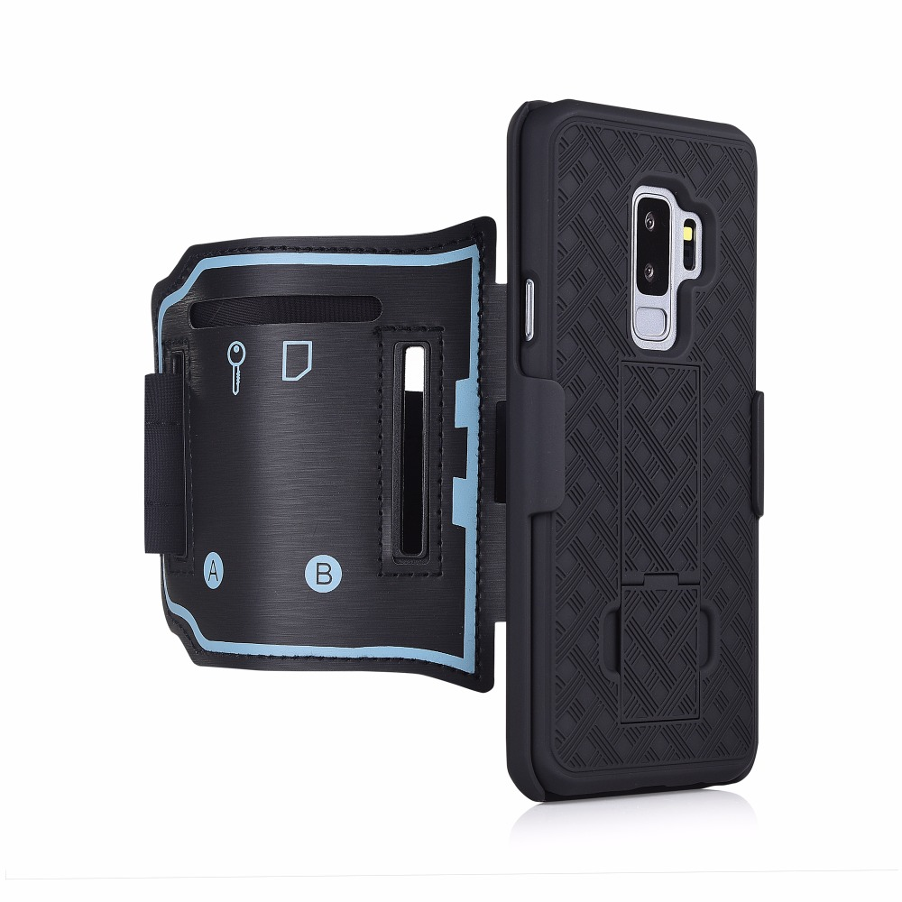 S9 PLUS Sport téléphone housse brassard Pour Sumsung galaxy S9 PLUS Gym Exécution Exercice de Téléphone Titulaire arm band béquille forte