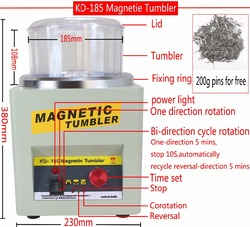 CE! KT/KD-185 Magnetic Tumbler Jewelry Polisher Finisher Finishing Machine, Magnetic Polishing Machine AC 110V/220V Available