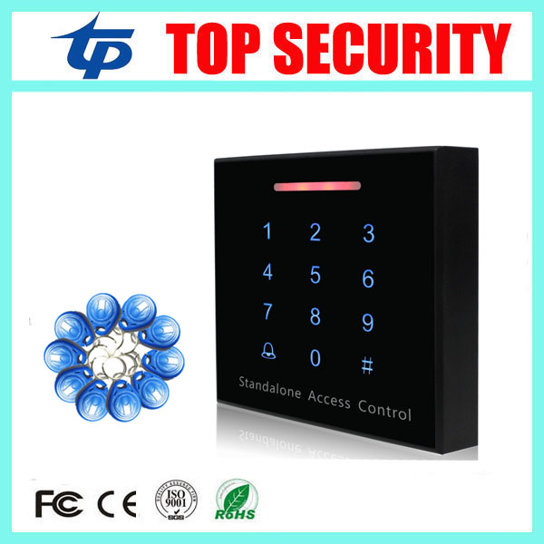 Standalone RFID card access control system touch keypad weigand single door 125KHZ ID card EM card access controller reader good quality smart rfid card door access control reader touch waterproof keypad 125khz id card single door access controller