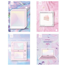 Get more info on the 4 pcs Vaporwave design sticky notes Loading Game Aurora color memo pad Bookmark Stationery items Office School supplies F157