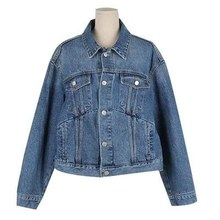 Arlenesain custom women short swing denim jacket.