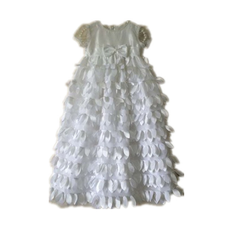 ФОТО BBWOWLIN Hot Sale To The Length of The New Beige Baby Dress Baby Girl Christening Gowns Baby Girl Baptism Dresses 80845