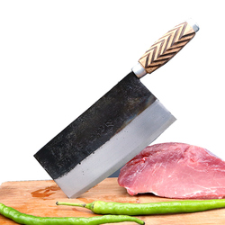 Chinese Style Traditional Handmade Hammered Iron Knife Kitchen Cutting Meat Vegetable Knife Multifunctional Slicing Fish Knives