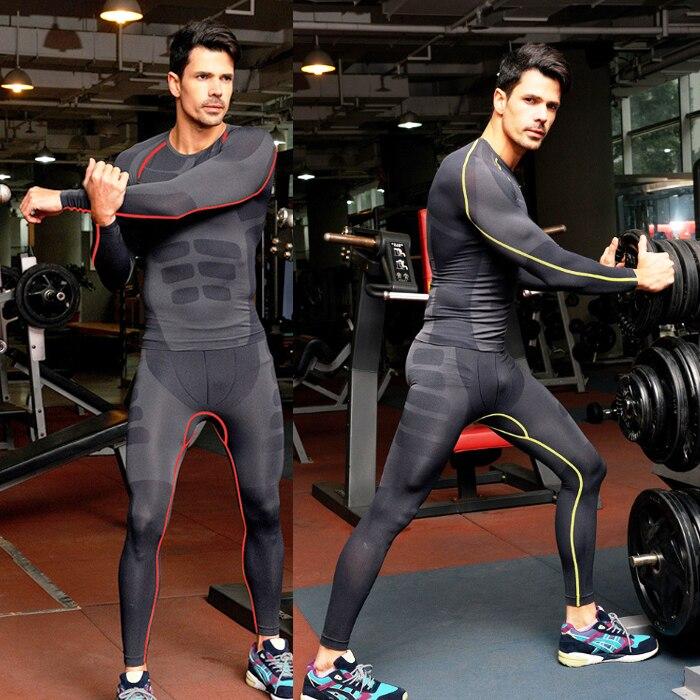 1 Satz = Top + Hosen/männer Compression T Shirts Männer Schnell Trocknend Atmungsaktiv Fitness Lange Unterhosen Underwear Bodybuilder Crossfit Zu Den Ersten äHnlichen Produkten ZäHlen