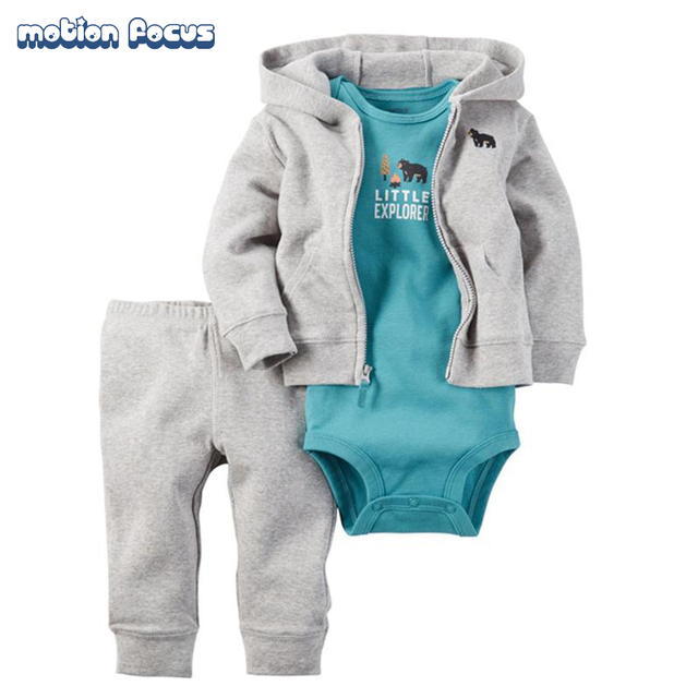Baby Clothing Set Cotton Newborn Baby Romper for boy girl body suits Long sleeve baby jumpsuits set Cardigan Bodysuit Pants Suit