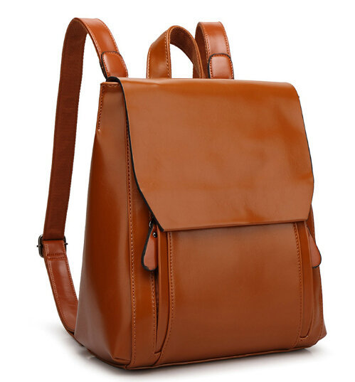 a288ec498623 QIAOBAO 2017 New Arrival Women s Backpack Vintage Leather Backpack .