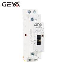 GEYA GYHC модульная контактор 2 P 16A 20A 25A 2NO или 2NC 220 В руководство управление бытовой автомат Din рейку Тип