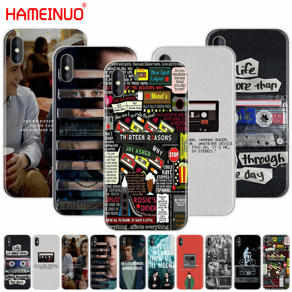 HAMEINUO Thirteen <font><b>13</b></font> <font><b>Reasons</b></font> <font><b>Why</b></font> Quotes cell phone Cover <font><b>case</b></font> for <font><b>iphone</b></font> X 8 7 6 4 4s 5 5s SE 5c 6s plus