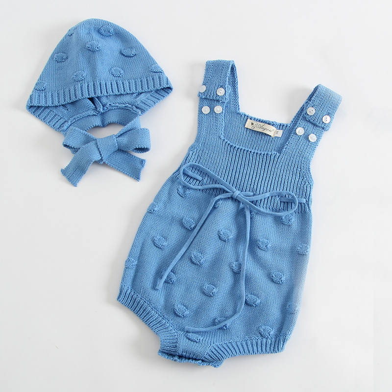 New 2019 Newborn Knited Romper New Baby Knitted Romper Overalls Autumn Baby Girl Newborn Knitted Romper Suits Romper+Knitted Hat