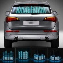 Niscarda voiture bleu LED musique rythme Flash lumière son activé capteur égaliseur arrière pare brise autocollant style néon lampe Kit