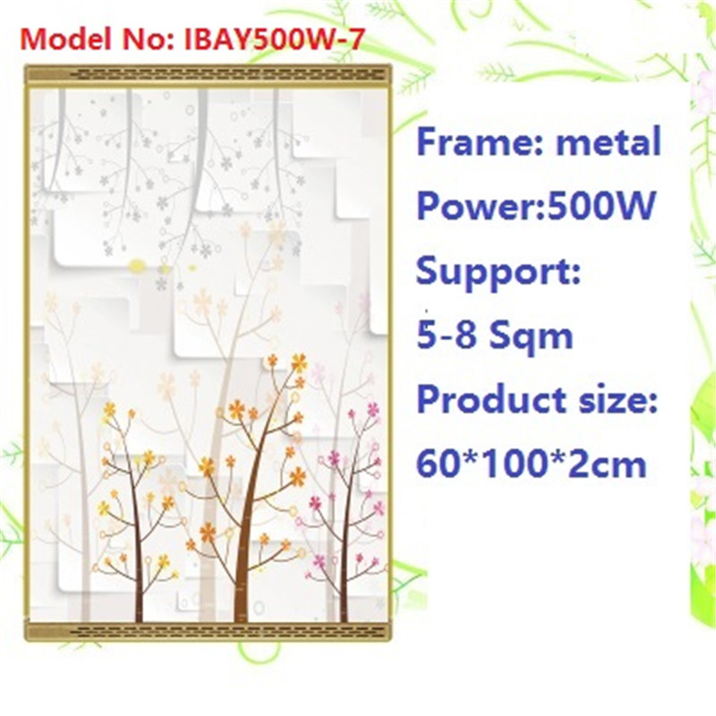 N500W-7,2 PCS/lot,Free shipping,wall mount crystal,warm wall with picture,Infrared heater,carbon crystal heater,with thermostat цена и фото