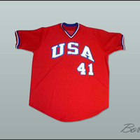 Mark McGwire USA Team Movie Baseball Jersey Any Name Any Number All Embroidery